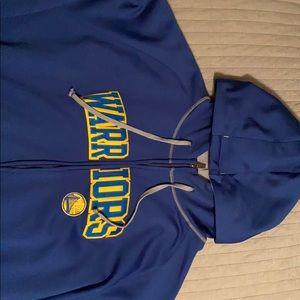 Warriors zip up hoodie